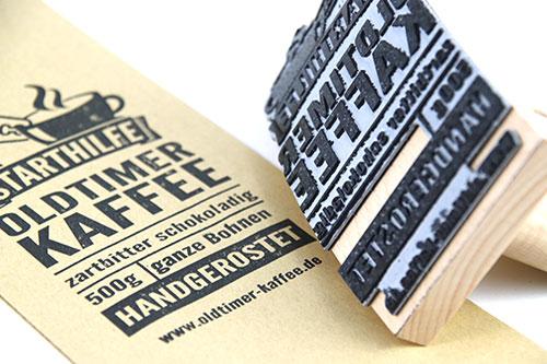 Oldtimer-Kaffee-Stempel