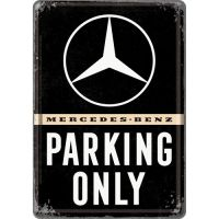 Blechpostkarte-Mercedes-Benz-Parking-Only