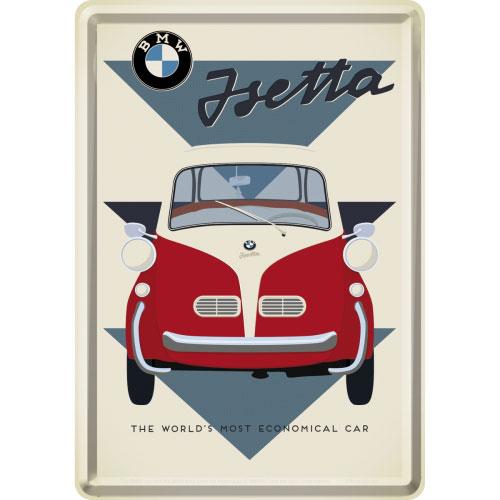 Blechpostkarte-BMW-Isetta
