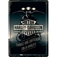 Blechpostkarte-Harley-Davidson