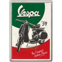 Blechpostkarte-Vespa
