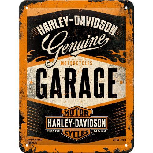 Blechschild-15x20-Harley-Davidson-vorn
