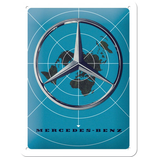 Blechschild-15x20-Mercedes-Benz-vorn