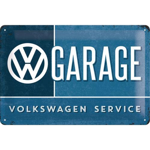 Blechschild-20x30-VW-Garage-vorn