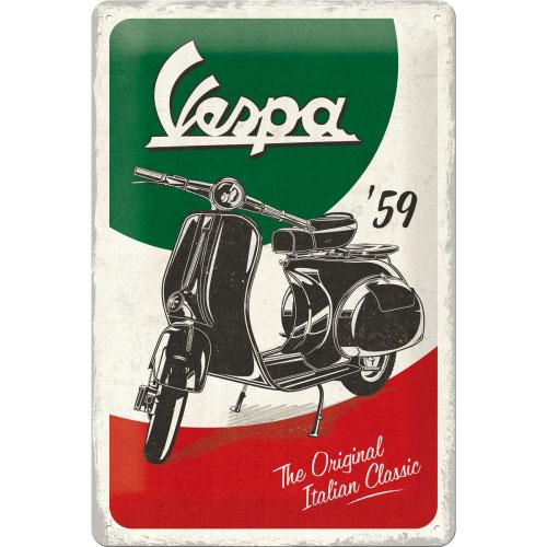 Blechschild-20x30-Vespa-vorn