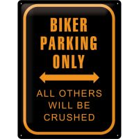 Blechschild-30x40-Biker-Parking-Only