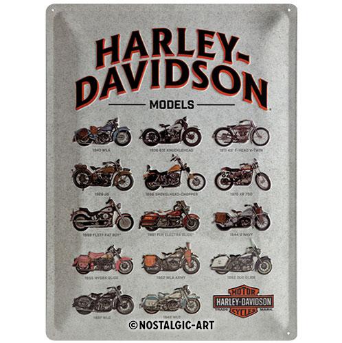 Blechschild-30x40-Harley-Davidson-vorn