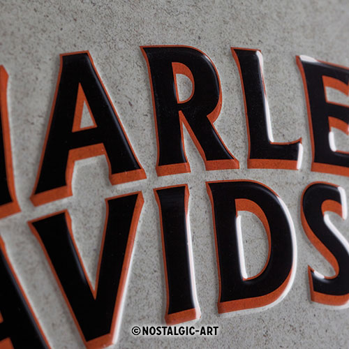 Blechschild-30x40-Harley-Davidson-detail