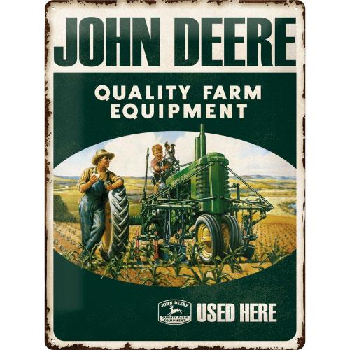 Blechschild-30x40-John-Deere-vorn