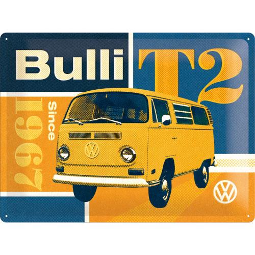 Blechschild-30x40-VW-T2-Bulli-vorn