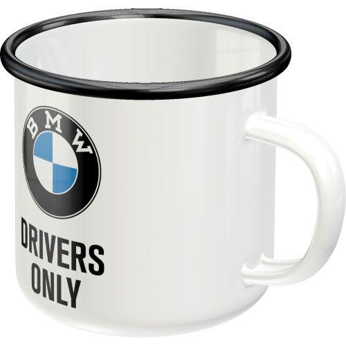 Emaille-Becher-BMW-vorn