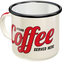 Emaille-Becher-Strong-Coffee