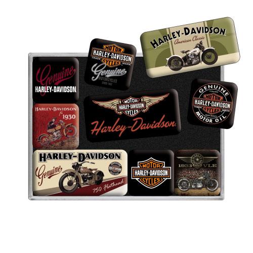 Magnet-Set-Harley-Davidson-detail