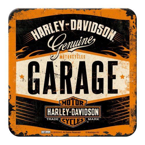 Metall-Untersetzer-Harley-Davidson