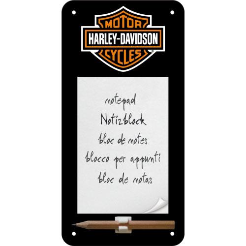 Notizblock-Schild-Harley-Davidson