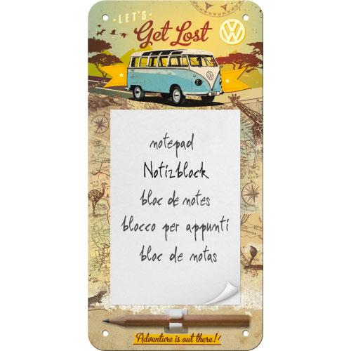 Notizblock-Schild-VW-Bulli