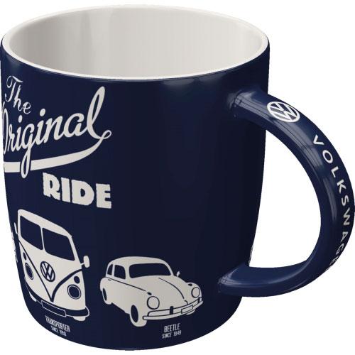 Tasse-Volkswagen-the original ride-vorn
