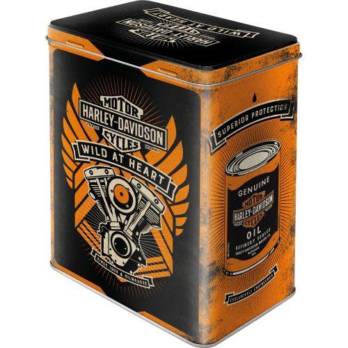 Vorratsdose-L-Harley-Davidson-vorn