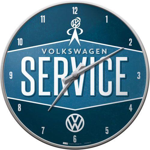 Wanduhr-Volkswagen Service