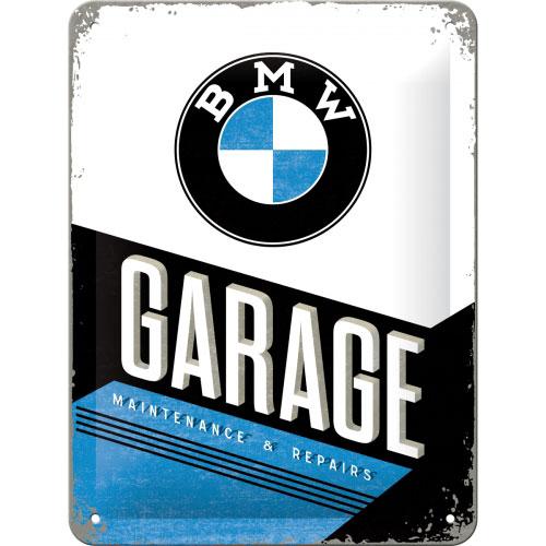 Blechschild-15x20-BMW-Garage-vorn