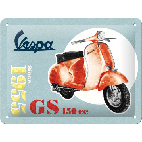 Blechschild-15x20-Vespa-GS-150-Since-1955-vorn