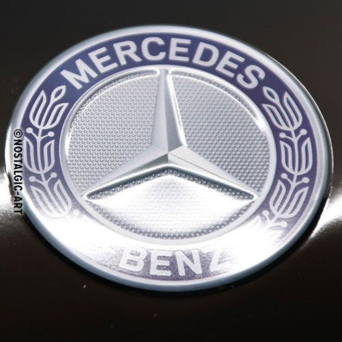 Blechschild-25x50-Mercedes-Benz-Logo-Evolution-detail