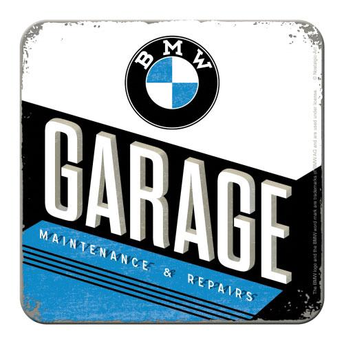 Metall-Untersetzer-BMW-Garage
