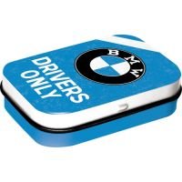 Pfefferminzdose-BMW-Drivers-Only-Blue