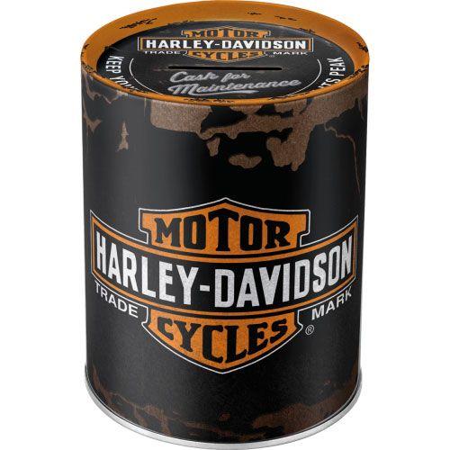 Spardosen-Harley-Davidson-Genuine-Logo-vorn