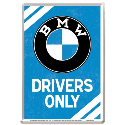 blechpostkarte-bmw-drivers-only