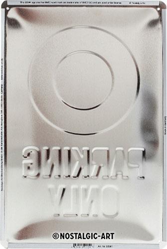 blechschild-20x30-bmw-parking-only-white