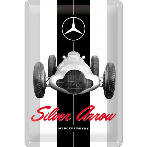 blechschild-20x30-mercedes-benz-silver-arrow-vorn