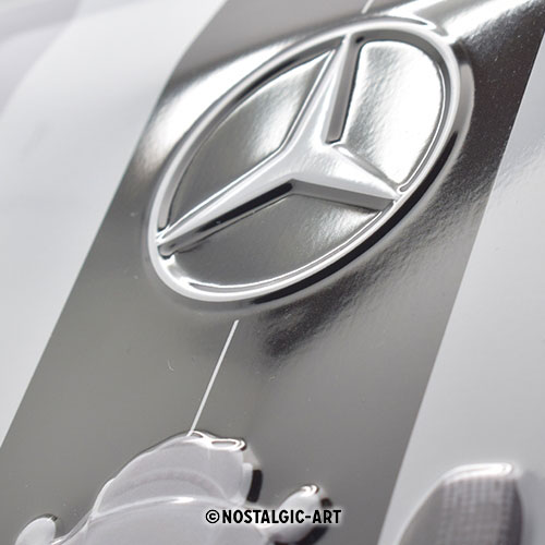 blechschild-20x30-mercedes-benz-silver-arrow-detail