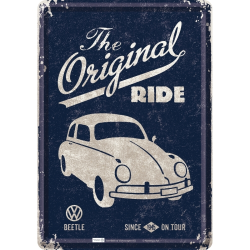 Blechpostkarte-VW-Beetle-The-Original-Ride