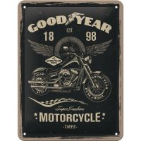 Blechschild-15x20-Goodyear-Motorcycle