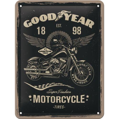 Blechschild-15x20-Goodyear-Motorcycle