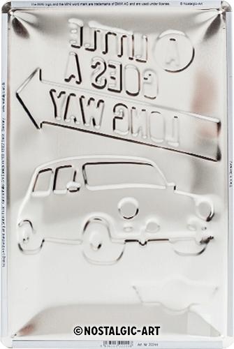 Blechschild-20x30-Mini-A-Little-Goes-A-Long-Way-hinten