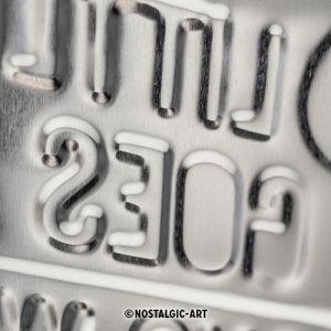 Blechschild-20x30-Mini-A-Little-Goes-A-Long-Way-Detail