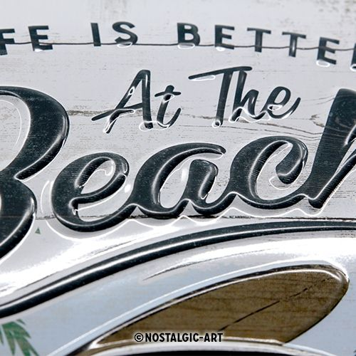 Blechschild-20x30-VW-Bulli-Beach-detail