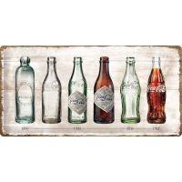 Blechschild-25x50-Coca-Cola-Bottle-Timeline-blechschild