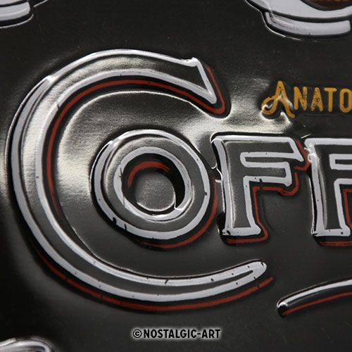 Blechschild-30x40-Anatomy-of-Coffee-Detail