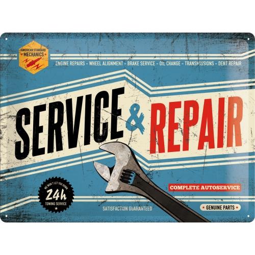 Blechschild-30x40-Service-Repair-vorn