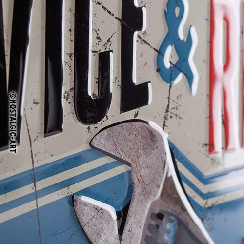 Blechschild-30x40-Service-Repair-detail