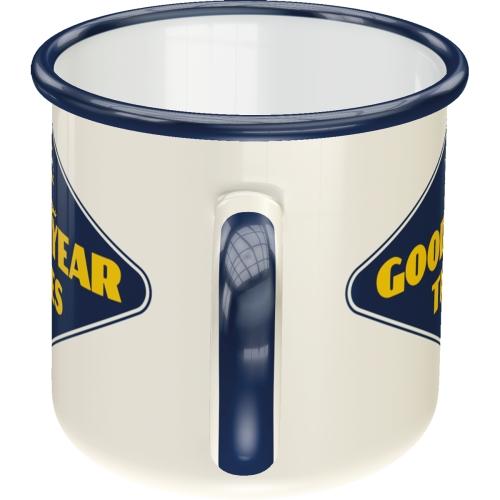 Emaille-Becher-Goodyear-Logo-White-Seite