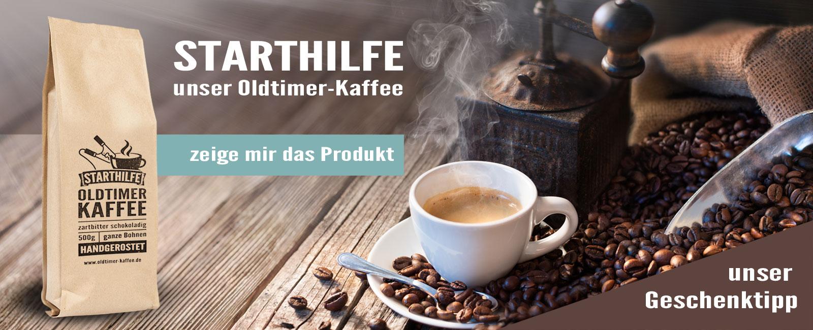 STARTHILFE-Oldtimerkaffee