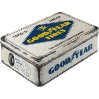 Vorratsdose-flach-Goodyear-Logo-White-vorn