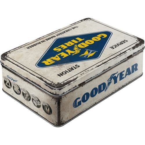 Vorratsdose-flach-Goodyear-Logo-White-hinten