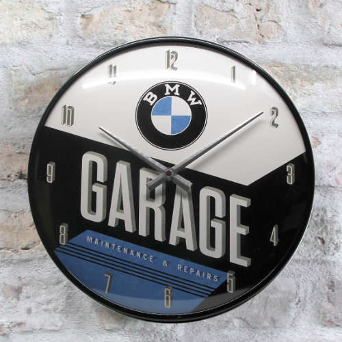 Wanduhr-BMW-Garage