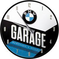 Wanduhr-BMW-Garage