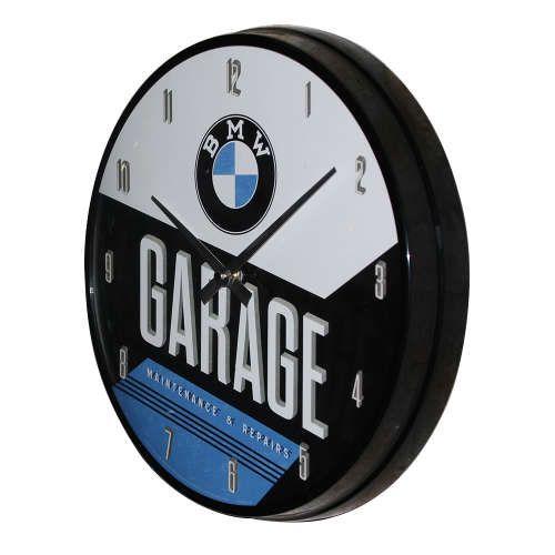 Wanduhr-BMW-Garage-seite
